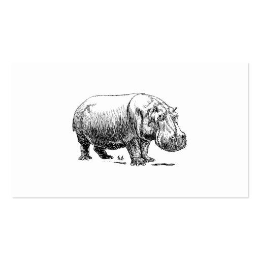 Hippopotamus Plantillas De Tarjetas Personales