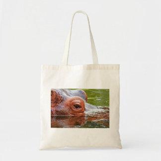 Hippopotamus Themed Tote Bag