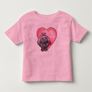 Hippopotamus Valentine's Day Toddler T-shirt