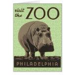Hippopotamus Vintage WPA Zoo Poster Philadelphia