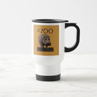 Hippopotamus Vintage WPA Zoo Poster Philadelphia Travel Mug