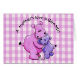 Hippos-A Mother's love is grand! Card