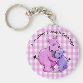 Hippos-A Mother's love is grand! Keychain