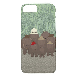 Hippos Apple iPhone 8/7, Barely There Phone Case