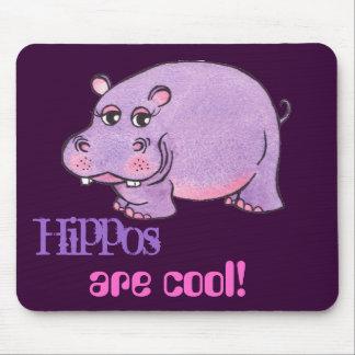 Hippos Are Cool - Mouse Pad