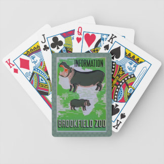 Hippos At The Brookfield Zoo! Bicycle Playing Cards