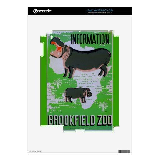 Hippos At The Brookfield Zoo! iPad 2 Skin