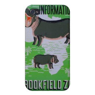 Hippos At The Brookfield Zoo iPhone 4 Covers