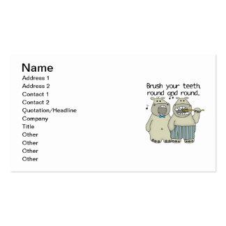 Hippos Brush Your Teeth Business Card