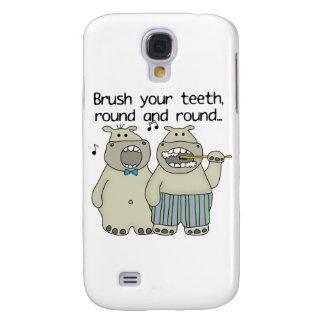 Hippos Brush Your Teeth Samsung Galaxy S4 Cases