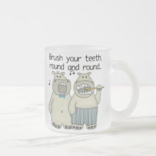 Hippos Brush Your Teeth Coffee Mugs