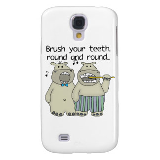 Hippos Brush Your Teeth Samsung Galaxy S4 Case