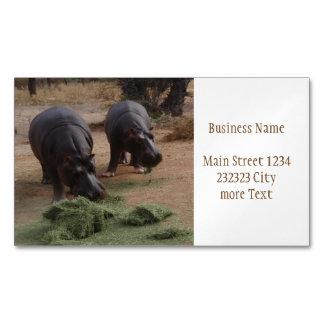 hippos business card magnet