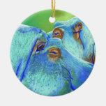 Hippos Ceramic Ornament