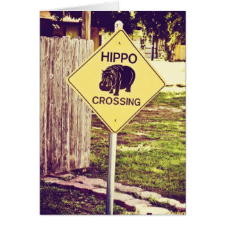Hippo's crossing card