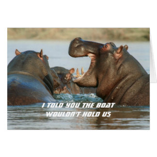 Hippos Dieting Encouragement Funny Card