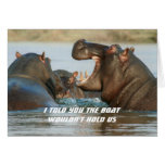 Hippos Funny Dieting Encouragement Card
