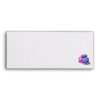 hippos in love envelopes
