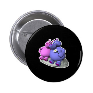 hippos in love pin