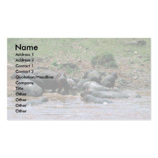 Hippos - In River Business Card Templates
