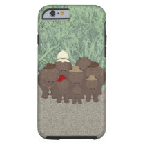Hippos iPhone 6/6s, Tough Phone Case