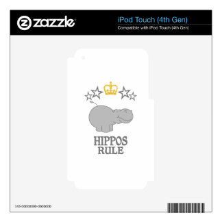 Hippos Rule Skin For iPod Touch 4G