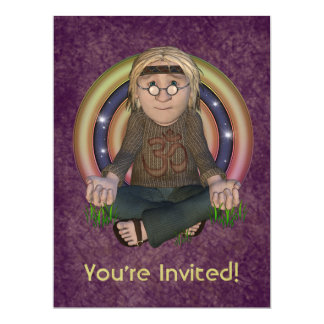"Hippy 60's Oversize Party Invitation 6.5"" X 8.75"" Invitation Card"