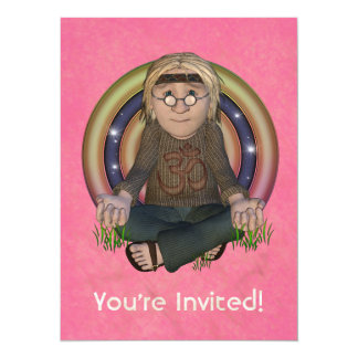 Hippy 60's X-Large Party Invitation