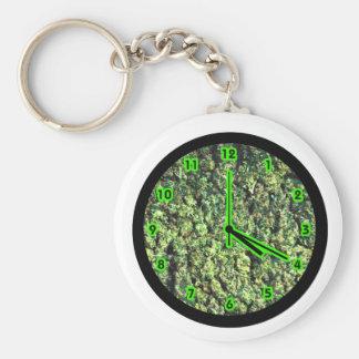 Hippy Bud Clock Basic Round Button Keychain