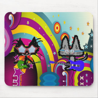 Hippy Cats From The '60s Mousepad