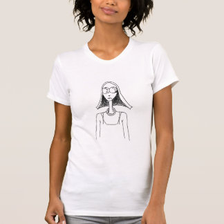 Hippy Chic Girl with sunglasses T-Shirt