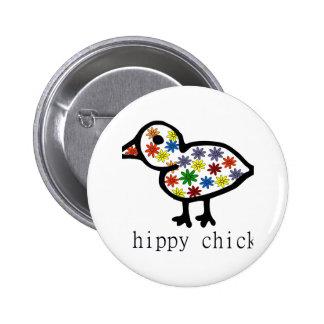 Hippy Chick 2 Inch Round Button