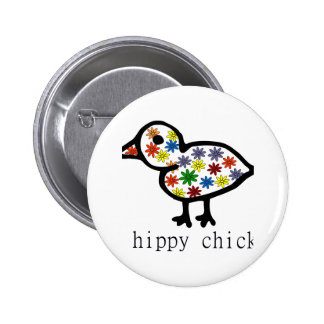 Hippy Chick Pinback Button
