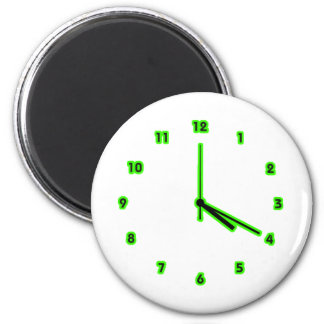 Hippy clock outline 2 inch round magnet