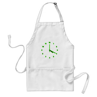Hippy clock outline adult apron