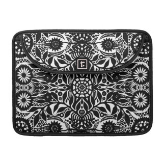 Hippy Dreams In Black and White MacBook Pro Sleeve