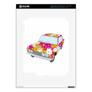 Hippy Flower Car iPad 3 Skin