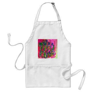 hippy flower design adult apron