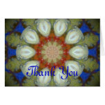 hippy flower design greeting card