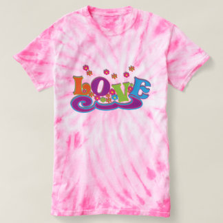 Hippy Flower Power Love T-shirt