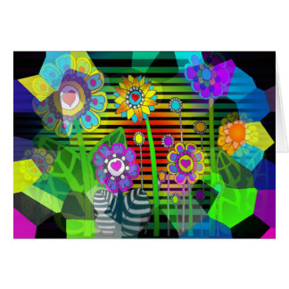 Hippy Flowers - Nice Accessories & Apparel Greeting Card