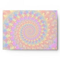 Hippy Fractal Pattern Pink Turquoise & Yellow Envelope