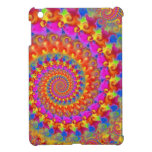 Hippy Fractal Pattern Pink Turquoise & Yellow iPad Mini Cases
