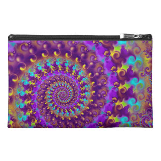 Hippy Fractal Pattern Purple Turquoise & Yellow Travel Accessory Bags