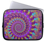 Hippy Fractal Pattern Purple Turquoise & Yellow Computer Sleeves