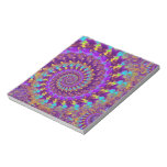 Hippy Fractal Pattern Purple Turquoise & Yellow Memo Note Pads