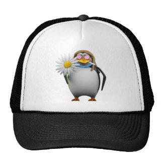 Hippy fresco del pingüino 3d (editable) gorro de camionero