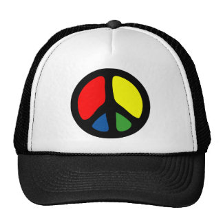 Hippy Groovy Peace Symbol Trucker Hat