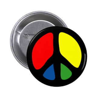 Hippy Groovy Peace Symbol Pin