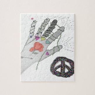 Hippy Hand Tattoo Jigsaw Puzzle